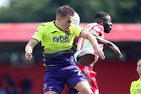 Emmanuel Sonupe of Stevenage and Jake Taylor of Exeter City during Stevenage vs Exeter City, Sky Bet EFL League 2 Football at the Lamex Stadium on 10th August 2019