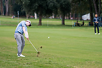 Robert Macintyre (SCO) in action on the 3rd hole during the first round of the 76 Open D'Italia, Olgiata Golf Club, Rome, Rome, Italy. 10/10/19.<br /> Picture Stefano Di Maria / Golffile.ie<br /> <br /> All photo usage must carry mandatory copyright credit (© Golffile | Stefano Di Maria)