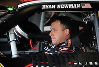 Oct. 10, 2009; Fontana, CA, USA; NASCAR Sprint Cup Series driver Ryan Newman during practice for the Pepsi 500 at Auto Club Speedway. Mandatory Credit: Mark J. Rebilas-