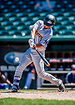 18 July 2018: Trenton Thunder infielder Gosuke Katoh in action against the New Hampshire Fisher Cats at Northeast Delta Dental Stadium in Manchester, NH. The Thunder defeated the Fisher Cats 3-2 concluding a previous game started April 29. Mandatory Credit: Ed Wolfstein Photo *** RAW (NEF) Image File Available ***