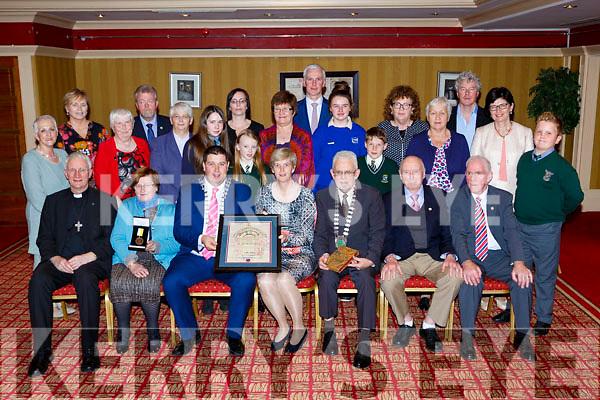 Killarney Mayor Niall Kelleher presents Sr Orlaith Tracey the Monsignor Hugh O'Flaherty humanitarian award in the Killarney Avenue Hotel on Saturday night