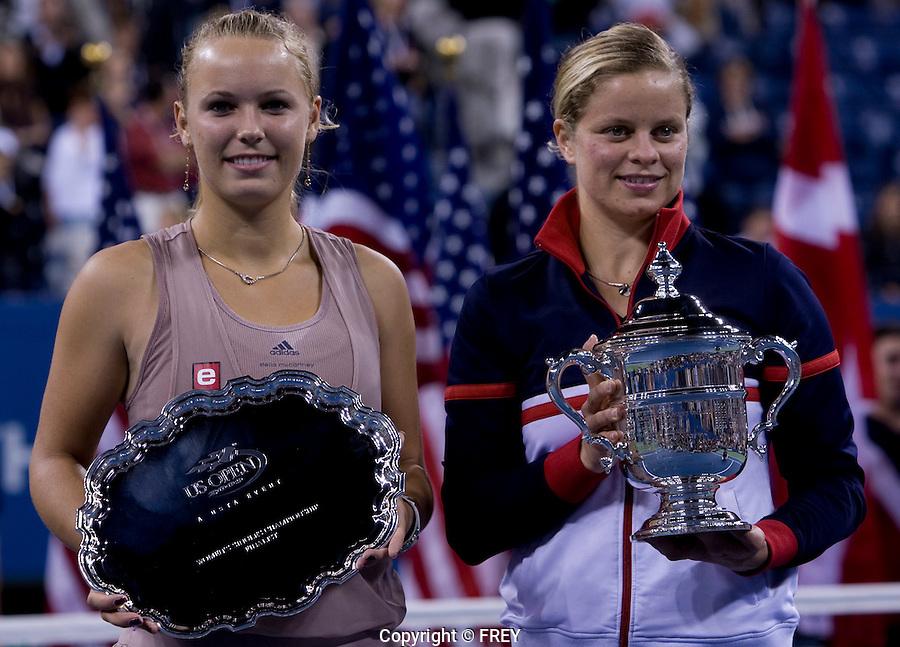 Kim Clijsters (BEL) against Caroline Wosniacki (DEN) (9) in the Finals. Clijsters beat Wozniacki 7-5 6-3..International Tennis - US Open - Day 14  Sun 13 Sep 2009 - USTA Billie Jean King National Tennis Center - Flushing - New York - USA ..© Frey Images, Barry House, 20-22 Worple Road, London, SW19 4DH.Tel - +44 20 8947 0100.Cell - +44 7843 383 012.Email - mfrey@advantagemedianet.com