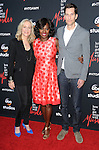 Betsy Beers, Viola Davis and Pete Nowalk attending the screening of How To Get Away With Murder ATAS Event held at Sunset Gower Studios Los Angeles CA. May 28, 2015