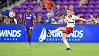 Orlando, FL - Saturday July 07, 2018: Tori Huster during the first half of a regular season National Women's Soccer League (NWSL) match between the Orlando Pride and the Washington Spirit at Orlando City Stadium.