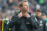 13.04.2019, Weser Stadion, Bremen, GER, 1.FBL, Werder Bremen vs SC Freiburg, <br /> <br /> DFL REGULATIONS PROHIBIT ANY USE OF PHOTOGRAPHS AS IMAGE SEQUENCES AND/OR QUASI-VIDEO.<br /> <br />  im Bild<br /> <br /> Florian Kohfeldt (Trainer SV Werder Bremen)<br /> Gestik, Mimik,<br /> <br /> Foto &copy; nordphoto / Kokenge