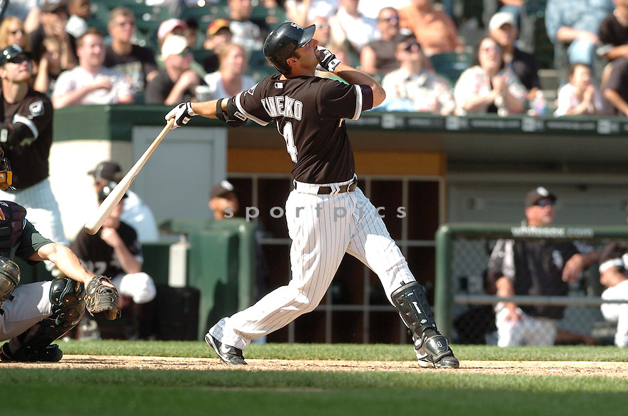 PAUL KONERKO, of the Chicago  White Sox , in action during the  White Sox  game against the Tampa Bay Devil Rays  in Chicago, IL, on May 27,  2007...Devil Rays  win 11-5...DAVID DUROCHIK / SPORTPICS.