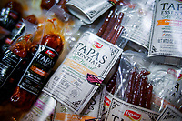 NEW YORK, NY - JUNE 25: Spanish meat products are seen at a stand during the Summer Fancy Food Show at the Javits Center in the borough of Manhattan on June 23, 2019 in New York, The Summer Fancy Food Show is the largest and biggest specialty food industry event in the continent (Photo by Eduardo MunozAlvarezVIEWpress/Corbis via Getty Image