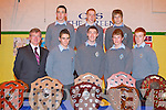 CEREMONY: The principal and 6th year students of the CBS the Green, Tralee at their Graduation Ceremony on Thursday front l-r: Tony O'Keeffe (principal), Killian Foley, Daniel O'Sullivan, Brian O'Callaghan and Shane O'Callaghan. Back l-r; Kevin McCarthy, Laurence Bastible and Ian McCarthy.