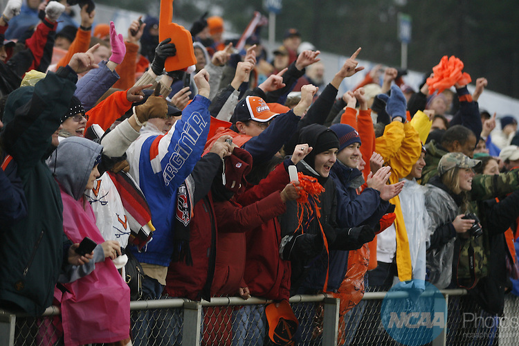 13 DEC 2009:  The University of Akron takes on the University of Virginia during the Division I Men's Soccer Championship held at the WakeMed Soccer Park in Cary, NC.  Virginia defeated Akron 3-2 on penalty kicks in a shootout to win the national title.  Jamie Schwaberow/NCAA Photos