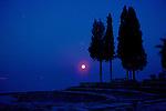Moon & Trees, Pre Dawn, Pamukkale
