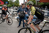 not Luke Durbridge's (AUS/Mitchelton Scott) best day on the bike apparently...<br /> <br /> Stage 18: Valdaora/Olang to Santa Maria di Sala (222km)<br /> 102nd Giro d'Italia 2019<br /> <br /> ©kramon