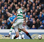 Nir Bitton collides with Lee Wallace