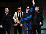 "Richie Jackson, Moises Kaufman, Michael Urie and Harvey Fierstein during the Broadway Opening Night Curtain Call for ""Torch Song"" at the Hayes Theater on November 1, 2018 in New York City."