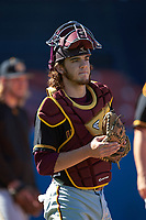 Bethune-Cookman Wildcats catcher Chase DeBonis (32) during practice before a game against the Wisconsin-Milwaukee Panthers on February 26, 2016 at Chain of Lakes Stadium in Winter Haven, Florida.  Wisconsin-Milwaukee defeated Bethune-Cookman 11-0.  (Mike Janes/Four Seam Images)