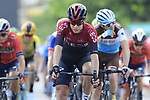 Riders including David de La Cruz (ESP) Team Ineos cross the finish line at the end of Stage 4 of La Vuelta 2019 running 175.5km from Cullera to El Puig, Spain. 27th August 2019.<br /> Picture: Eoin Clarke | Cyclefile<br /> <br /> All photos usage must carry mandatory copyright credit (© Cyclefile | Eoin Clarke)