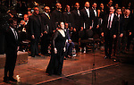 Manoel Felciano, Norm Lewis, Lea Salonga, Howard McGillin, Michael Arden & Dick Latessa during the Curtain Call for the Manhattan Concert Production of 'Ragtime - In Concert' at Avery Fisher Hall in New York City on 2/18/2013