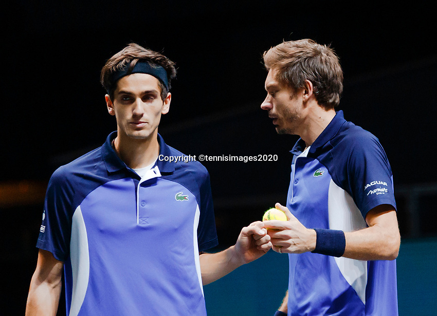 Rotterdam, The Netherlands, 15 Februari 2020, ABNAMRO World Tennis Tournament, Ahoy, <br /> Doubles:  Pierre-Hugues Herbert (FRA) and Nicolas Mahut (FRA).<br /> Photo: www.tennisimages.com
