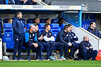 The Wigan bench watch on during Reading vs Wigan Athletic, Sky Bet EFL Championship Football at the Madejski Stadium on 9th March 2019