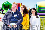 Ber O'Sullivan from Abbeydorney with Roisin O'Regan and Nicole Frisby at the Kingdom County Fair on Sunday.