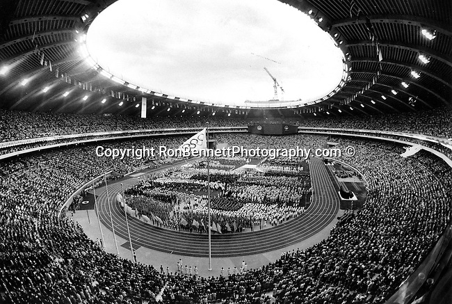 Stadium opening day 1976 Summer Olympics games of the XXI Olympiad in Montreal Quebec Canada, Fine Art Photography by Ron Bennett, Fine Art, Fine Art photography, Art Photography, Copyright RonBennettPhotography.com ©
