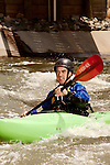 April 30, 2012. Charlotte, NC.. Rob Raker, the river guide for Erik Weihenmayer.. Erik Weihenmayer, who has been completely blind since age 13, is training at the United States National White Water Center in an attempt to kayak through the Grand Canyon. Weihenmayer is an accomplished outdoorsman who has climbed the 7 Summits, and is the only blind person to climb Mount Everest.