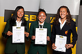 Touch Girls finalists Tyla Nathan-Wong, Charlotte Davis and Nadia Loveday. ASB College Sport Young Sportsperson of the Year Awards held at Eden Park, Auckland, on November 11th 2010.