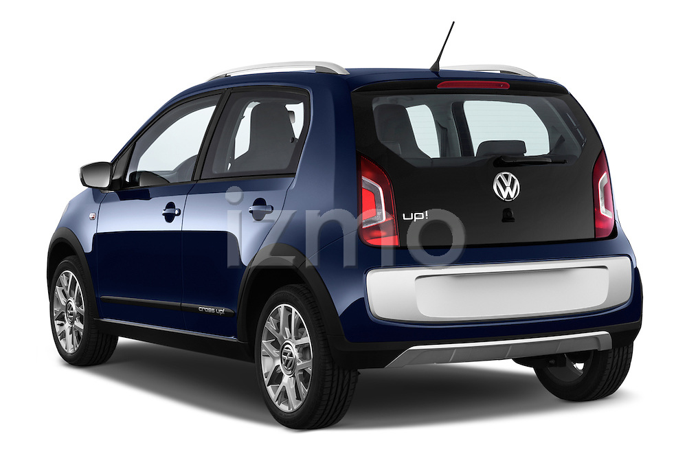 Car pictures of rear three quarter view of a 2014 Volkswagen up! Cross up! 5 Door Hatchback 2WD Angular Rear