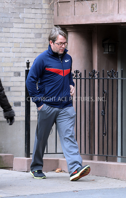 WWW.ACEPIXS.COM . . . . .  ....January 6 2012, New York City....Actor and husband of Sarah Jessica Parker, Matthew Broderick, looking jowly, unshaven and sporting a mis-matched track suit, leaves his West Village brownstone on January 6 2012 in New York City...... *** ***..Ace Pictures, Inc:  ..Philip Vaughan (212) 243-8787 or (646) 679 0430..e-mail: info@acepixs.com..web: http://www.acepixs.com