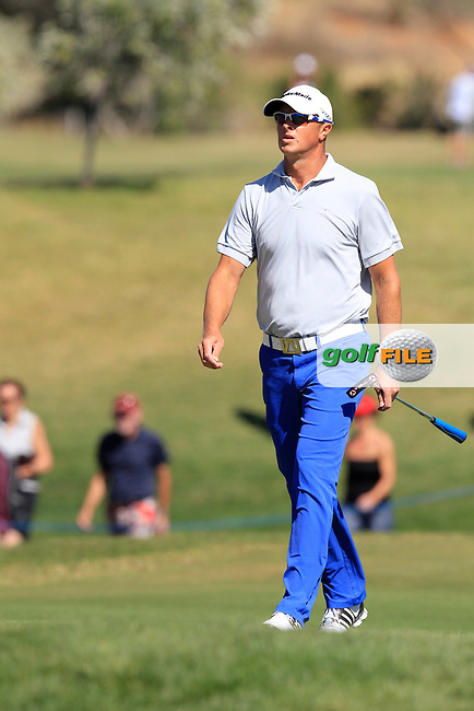 Fredrik Andersson Hed (SWE) walks onto the 1st green during Saturday's Round 3 of the Portugal Masters at the Oceanico Victoria Golf Course, Vilamoura, Portugal 13th October 2012 (Photo Eoin Clarke/www.golffile.ie)
