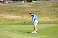 Darragh Coughlan (Portmarnock) on the 1st during the Quarter Finals of The South of Ireland in Lahinch Golf Club on Tuesday 29th July 2014.<br /> Picture:  Thos Caffrey / www.golffile.ie