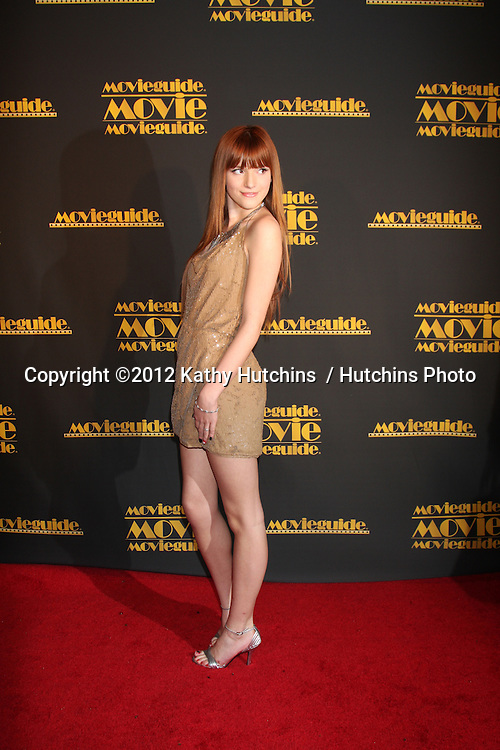 LOS ANGELES - FEB 10:  Bella Thorne arrives at the 2012 Movieguide Awards at Universal Hilton Hotel on February 10, 2012 in Universal City, CA