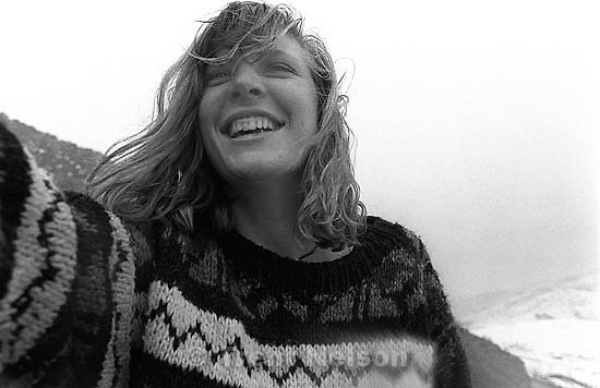 Laura Nelson in the rain.<br />