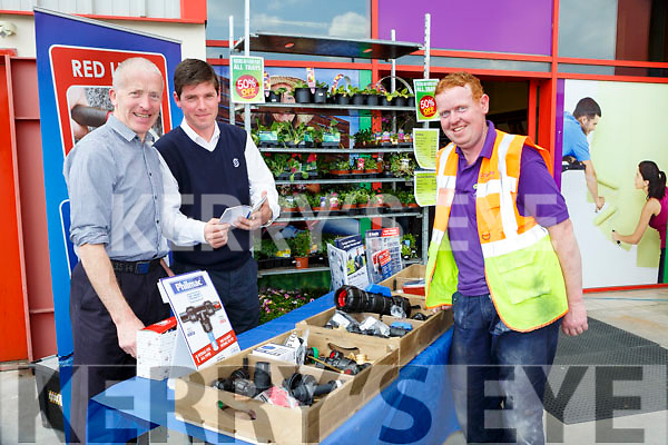Michael Myer, Joe O'Driscoll and Gerard Joy at the Brownes, Castleisland open day on Wednesday