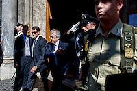 Roma 2 Ottobre 2013<br /> Il ministro dell'Economia Fabrizio Saccomanni, lascia il Senato dopo il voto di fiducia<br /> Minister for Economic Affairs, Fabrizio Saccomanni leaves  the Upper House after  the confidence vote
