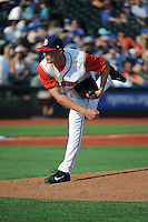 Brooklyn Cyclones pitcher Jon Prevost (46) during game against the Staten Island Yankees at MCU Park on June 29, 2014 in Brooklyn, NY.  Staten Island defeated Brooklyn 5-4.  (Tomasso DeRosa/Four Seam Images)