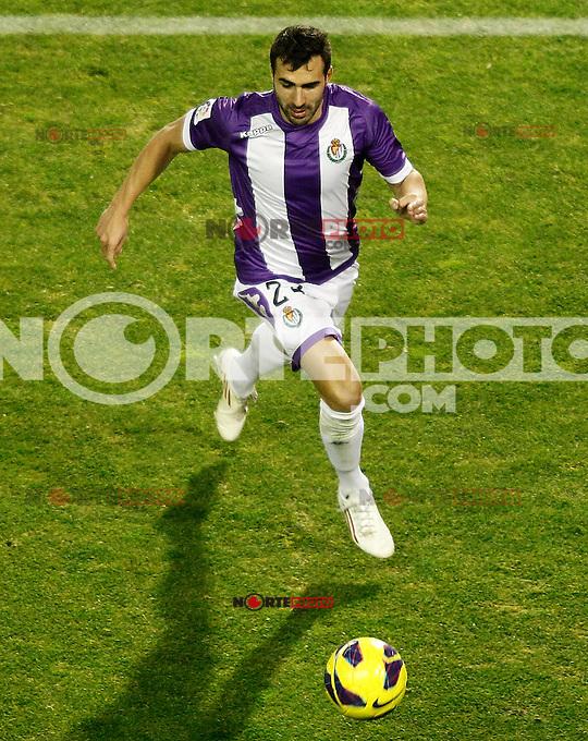 Real Valladolid's Mikel Balenziaga during La Liga match.December 22,2012. (ALTERPHOTOS/Acero) /NortePhoto