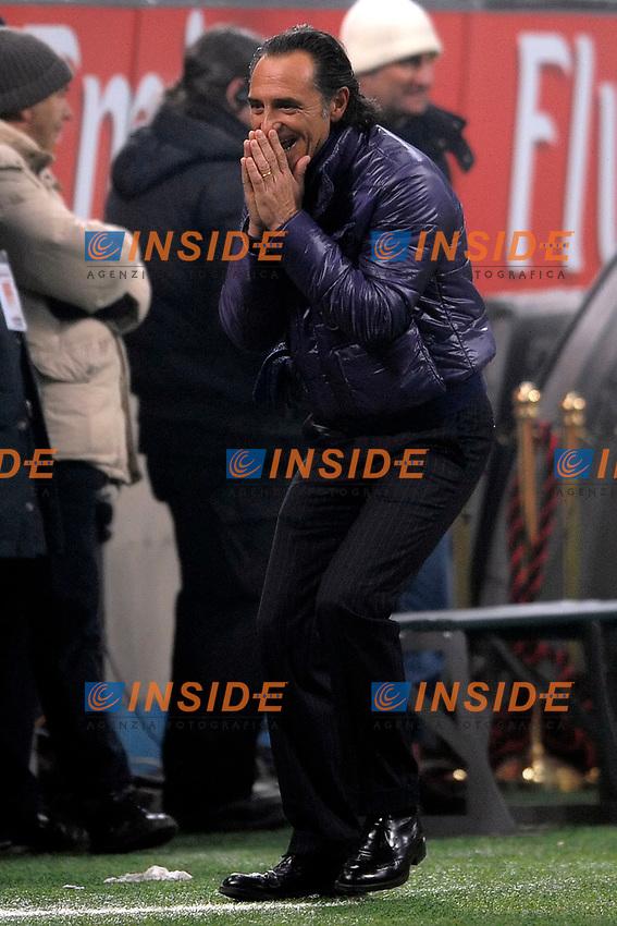 Fiorentina coach Cesare Prandelli<br /> L'allenatore della Fiorentina<br /> Milano 17/1/2009 Stadio &quot;Giuseppe Meazza&quot; <br /> Campionato Italiano Serie A 2008/2009<br /> Milan Fiorentina (1-0)<br /> Foto Andrea Staccioli Insidefoto