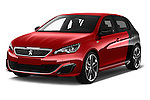 2016 Peugeot 308 GTI 5 Door Hatchback Angular Front stock photos of front three quarter view