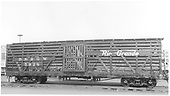 Side view of D&amp;RGW stock car #5928 at Alamosa.<br /> D&amp;RGW  Alamosa, CO  Taken by Maxwell, John W. - 1/18/1946