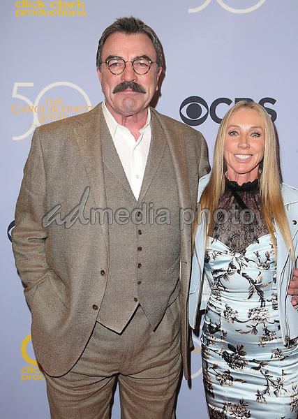 "04 October 2017 - Los Angeles, California - Tom Selleck, Jillie Mack. CBS ""The Carol Burnett Show 50th Anniversary Special"". Photo Credit: F. Sadou/AdMedia"