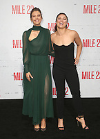 LOS ANGELES, CA - AUGUST 9: Lauren Cohan and Ronda Rousey at the Mile 22 premiere at The Regency Village Theatre in Los Angeles, California on August 9, 2018. Credit: Faye Sadou/MediaPunch
