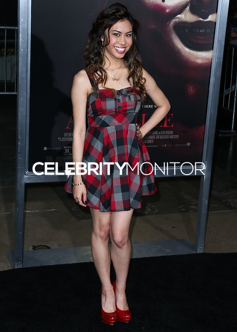 HOLLYWOOD, LOS ANGELES, CA, USA - SEPTEMBER 29: Ashley Argota arrives at the Los Angeles Premiere Of New Line Cinema's 'Annabelle' held at the TCL Chinese Theatre on September 29, 2014 in Hollywood, Los Angeles, California, United States. (Photo by Xavier Collin/Celebrity Monitor)