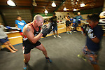 Tasman Makos visit Victory Boxing Gym. Nelson, New Zealand, Friday 2 May 2014. Evan Barnes/www.shuttersport.co.nz