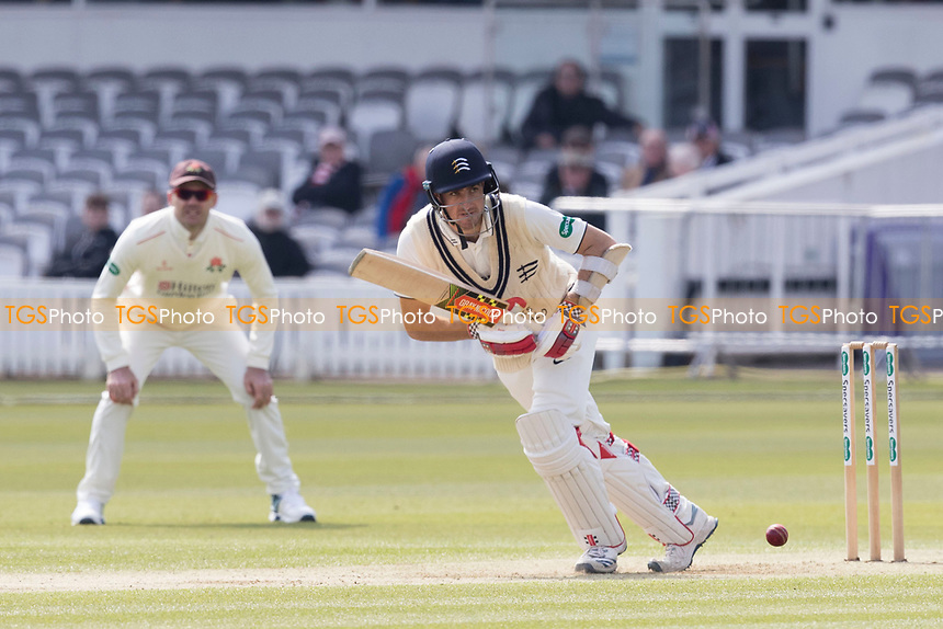 Stephen Eskinazi of Middlesex CCC pushes into the mid wicket region for runs during Middlesex CCC vs Lancashire CCC, Specsavers County Championship Division 2 Cricket at Lord's Cricket Ground on 11th April 2019
