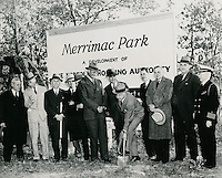 1940 October 18..Historical..Merrimack Landing..Left to Right:..George H. Lewis, Executive Director NRHA.C. Wiley Grandy, member NRHA.A. H. Foreman, NRHA Attorney.David Pender, member NRHA.J.B. Wood, Mayor of Norfolk.Louis Windholz, Chairman NRHA.Charles B. Borland, City Manager.Nathan Straus, US Housing Authority Administrator.Lawrence M. Cox, Assistant Executive Director NRHA.C. L. Kaufman, NRHA member.J. W. Reed, City Councilman.A. S. Farquar, Chief of Staff, 5th Naval District...NEG# copy MDA70-84(4-6).NRHA# 449..