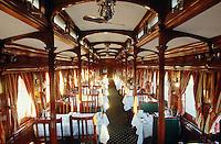 """Rovos Rail. Dining car """"Shangani""""."""