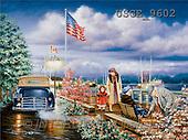 Dona Gelsinger, LANDSCAPES, paintings(USGE9602,#L#) Landschaften, Schiffe, paisajes, barcos, llustrations, pinturas