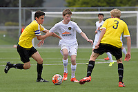 Team Wellington&rsquo;s Dalton Wilkins in action during the National Youth League - Phoenix Youth v Team Wellington Youth at Petone Memorial Park, Lower Hutt, New Zealand on Saturday 29 October 2016.<br /> Photo by Masanori Udagawa. <br /> www.photowellington.photoshelter.com.