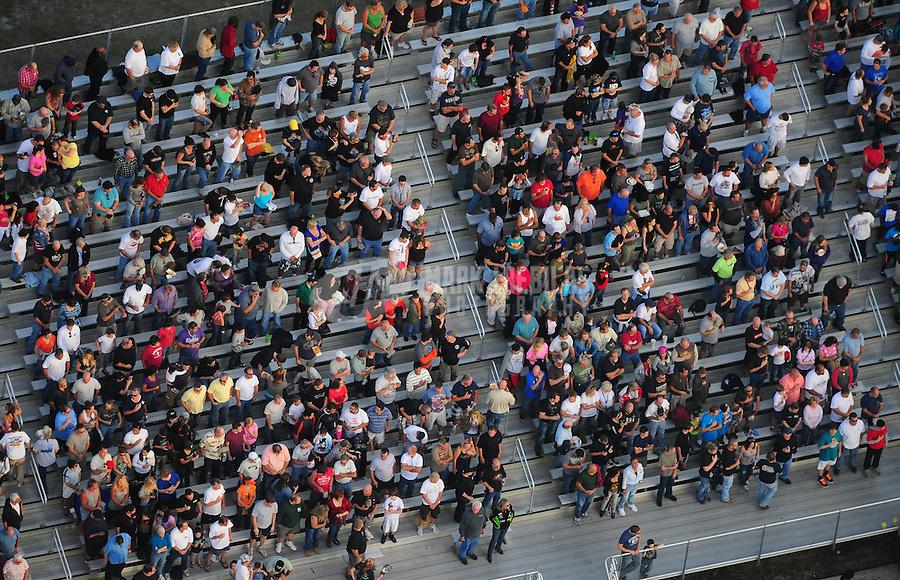 Jan. 21, 2012; Jupiter, FL, USA: Aerial view of fans in the grandstands at Palm Beach International Raceway during NHRA testing at the PRO Winter Warmup. Mandatory Credit: Mark J. Rebilas-