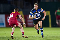 Jack Walker of Bath United goes on the attack. Aviva A-League match, between Bath United and Harlequins A on March 26, 2018 at the Recreation Ground in Bath, England. Photo by: Patrick Khachfe / Onside Images